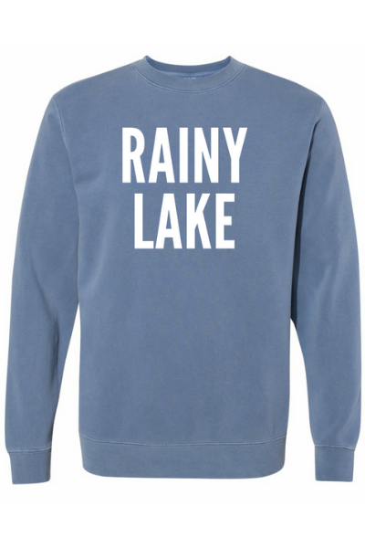 RAINY LAKE CREW - SLATE BLUE