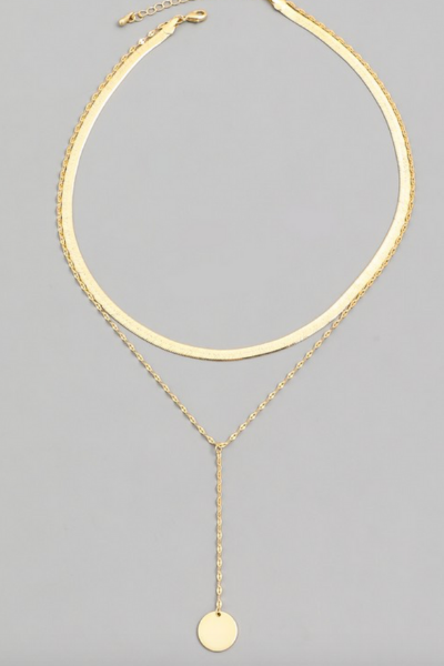 DISC CHOKER NECKLACE - GOLD