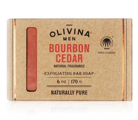 EXFOLIATING SOAP BAR - BOURBON CEDAR