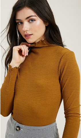 CHRISTIE MOCK NECK TOP