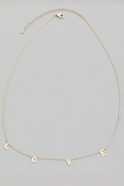 LOVE DAINTY NECKLACE - GOLD