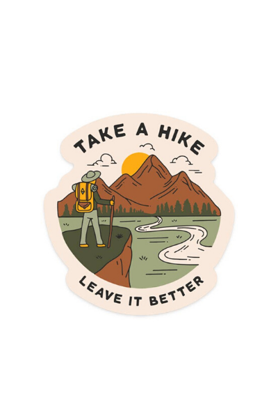 TAKE A HIKE - STICKER