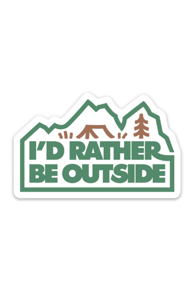 RATHER BE OUTSIDE - STICKER