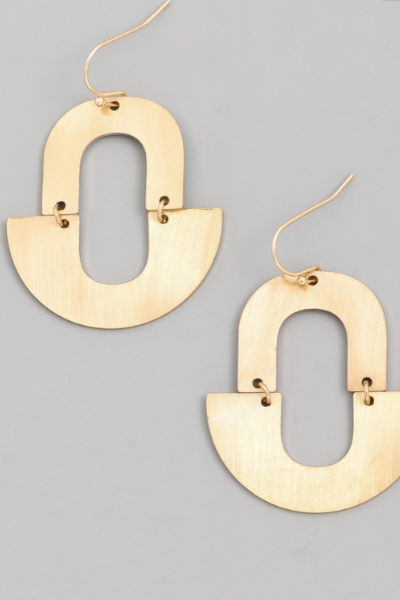 GEO DROP EARRINGS - GOLD