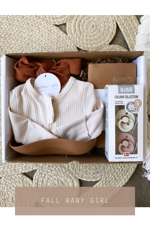 Fall Baby Girl Gift Box