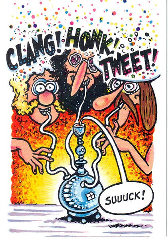 "Freak Brothers ""Clang! Honk! Tweet!"" Notecard - Shelton"