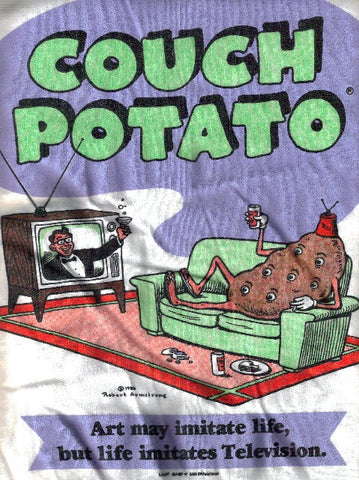 Couch Potato, Vintage <u>Sweatshirt</u> - Large*