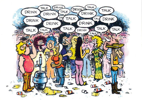 "Freak Brothers ""Drink, Talk"" Notecard - Shelton"