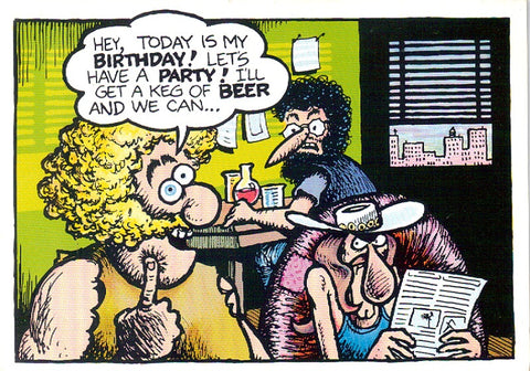 Fat Freddy's Birthday Notecard - Gilbert Shelton