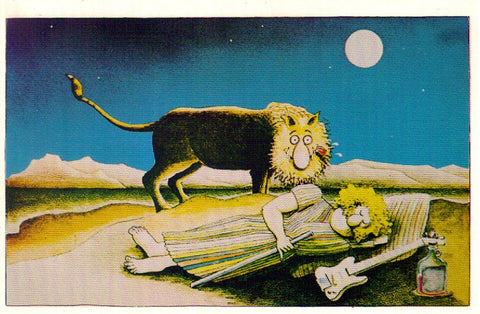 Fat Freddy The Sleeping Hippie Postcard - Shelton