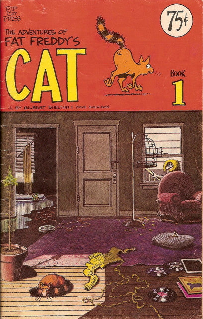 Fat Freddy's Cat # 1, $.75 cp - 4th print