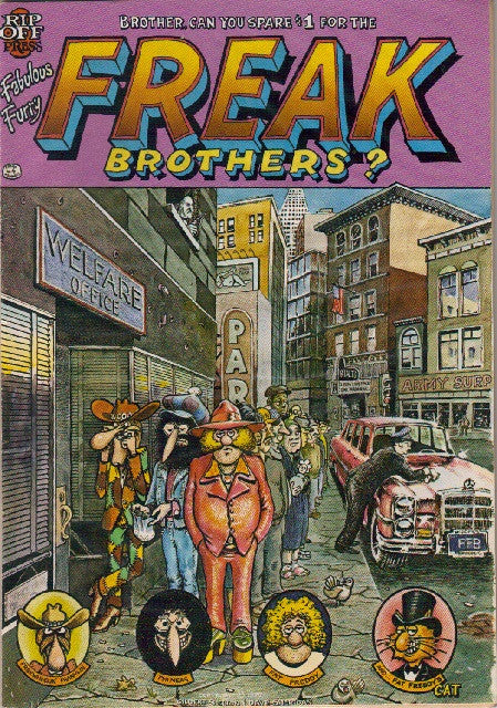 Fabulous Furry Freak Brothers #  4,  2nd print