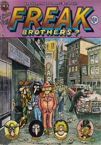 Fabulous Furry Freak Brothers #  4,  3rd print