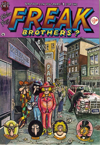 Fabulous Furry Freak Brothers #  4,  4th print