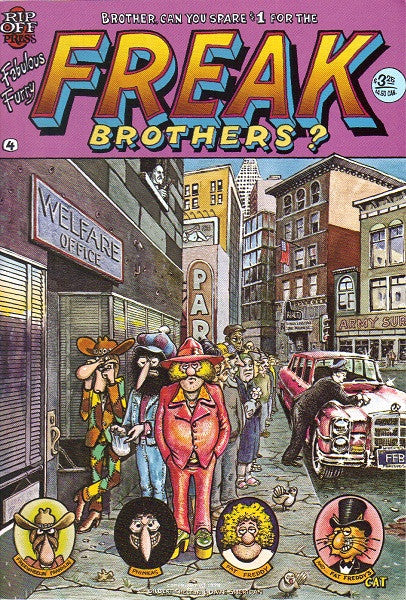 Fabulous Furry Freak Brothers #  4,  9th print