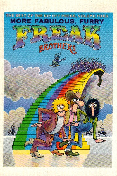 Freak Brothers Rainbow Postcard - Gilbert Shelton