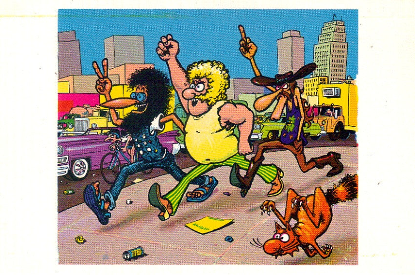 Freak Brothers Truckin Postcard - Gilbert Shelton