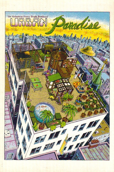 Freak Brothers Urban Paradise Postcard - Shelton