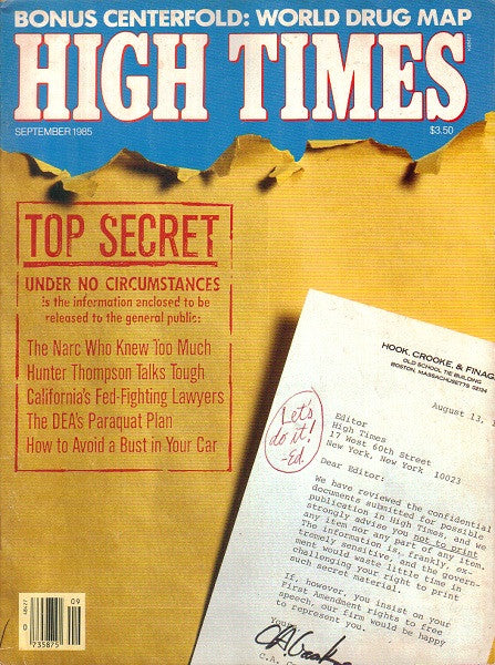 High Times Magazine # 121 - September 1985