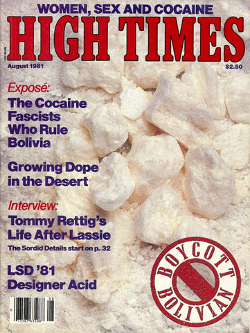 High Times Magazine #  72 - August 1981