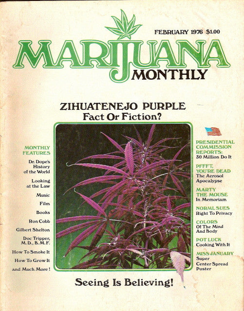Marijuana Monthly vol. 2 # 1 - Feb 1976