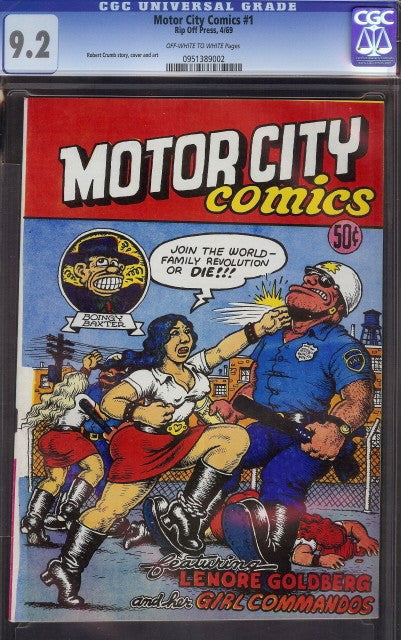 Motor City Comics # 1 - Highest Certified Copy!