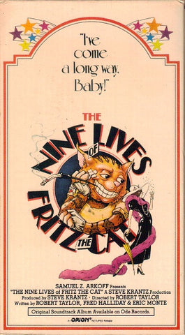 Nine Lives of Fritz the Cat, The (VHS) - R. Crumb
