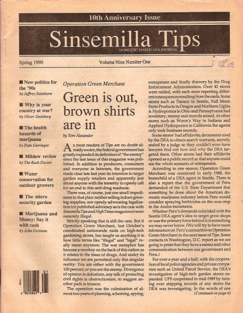 Sinsemilla Tips vol. 9 # 1 - 1990