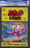 Zap Comix # 2, 1st print - 2nd Highest Certified Copy!