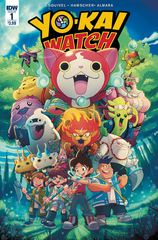 yo-kai watch comic book preview idw