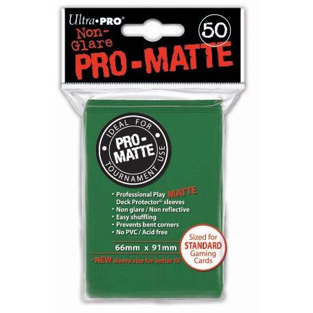 Green Ultra-Pro Standard Pro-Matte Sleeves, 50 count Uncanny!