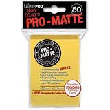 Yellow Ultra-Pro Standard Pro-Matte Sleeves, 50 count Uncanny!