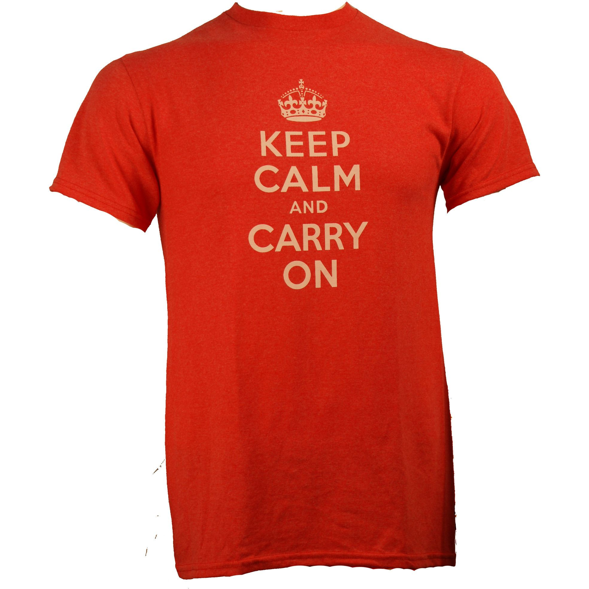 Keep Calm and Carry on Red Shirt Uncanny!