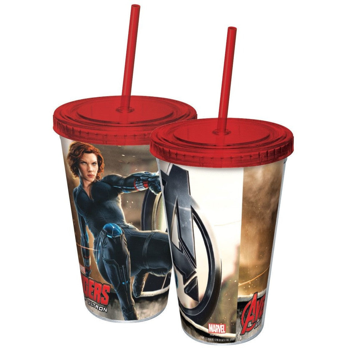 Avengers Black Widow Plastic Travel Cup with Straw Uncanny!
