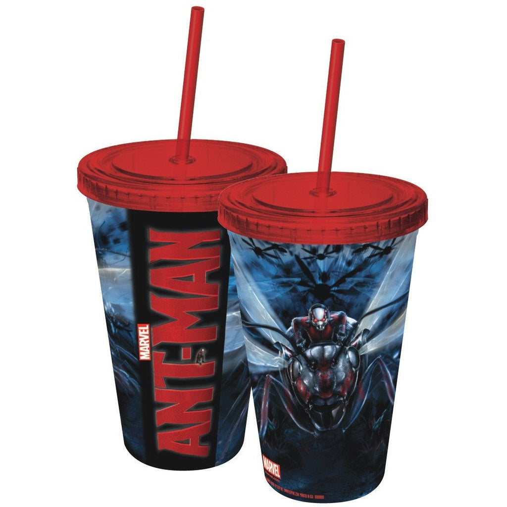 Ant-Man Plastic Travel Cup with Straw