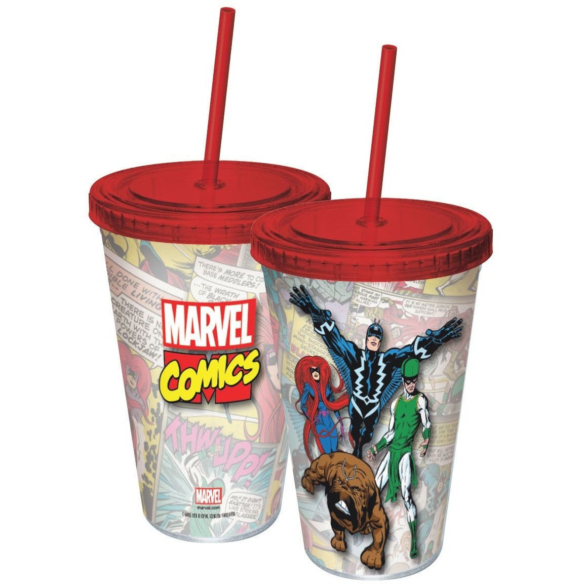 Inhumans Plastic Travel Cup with Straw Uncanny!