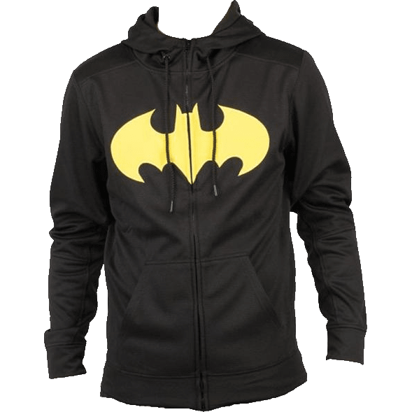 Batman Pieced Poly Hoodie Uncanny!