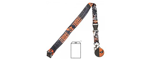 Justice League Deathstroke Lanyard with Charm and ID Badge Holder