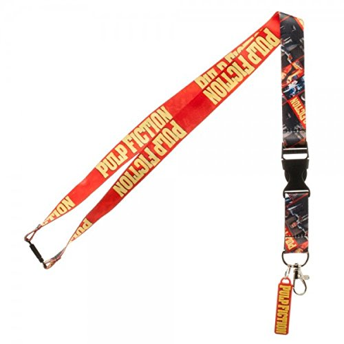 Miramax Pulp Fiction Lanyard with ID Badge Holder and Logo Charm