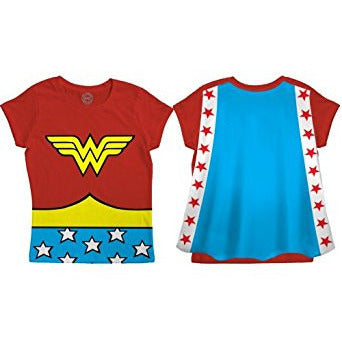 Wonder Woman Youth Shirt w/Cape