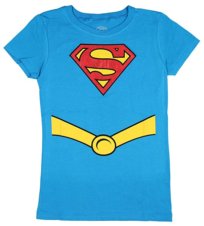 Supergirl Glitter Suit-Up Girls T-Shirt