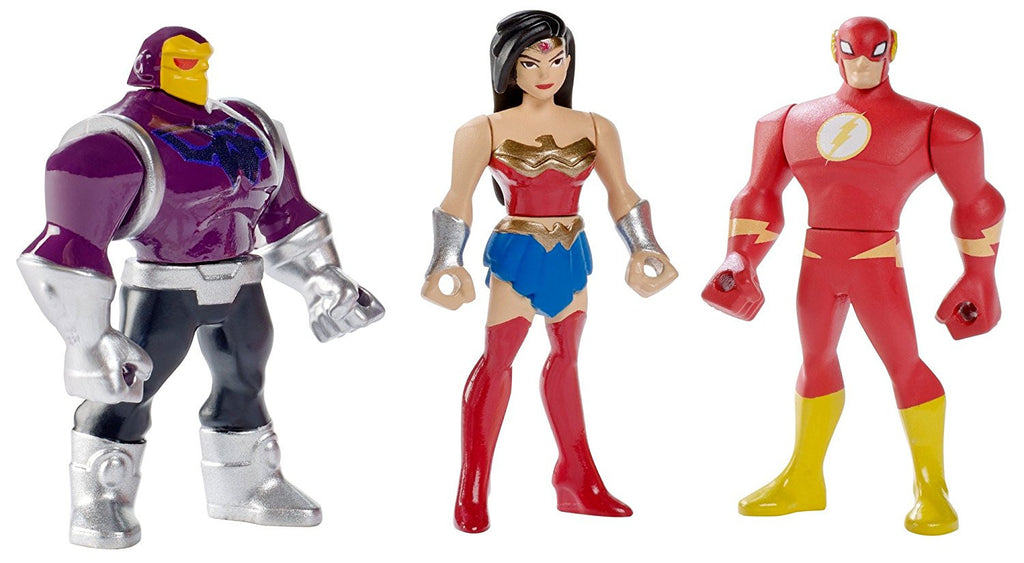 DC Comics Justice League Action Mighty Wonder Woman, The Flash, & Mongul Mini Figures, 3 pack