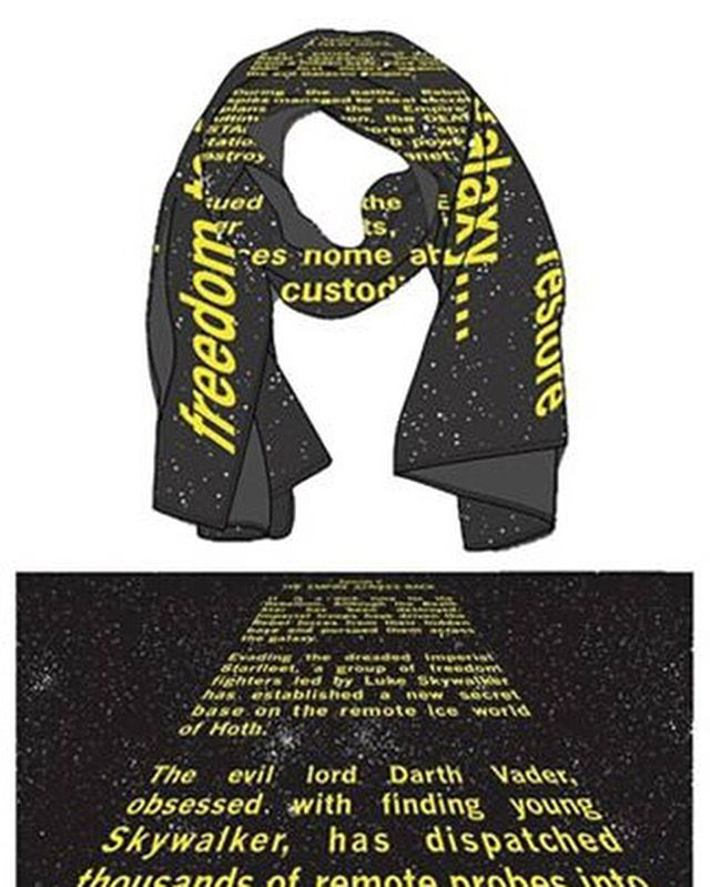 Empire Strikes Back Crawl Scarf
