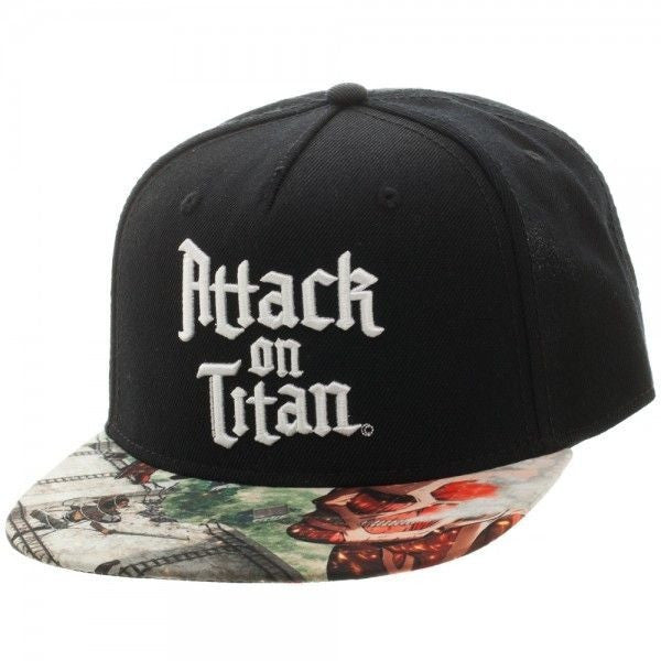 Attack on Titan Sublimated Bill Snapback Hat Uncanny!