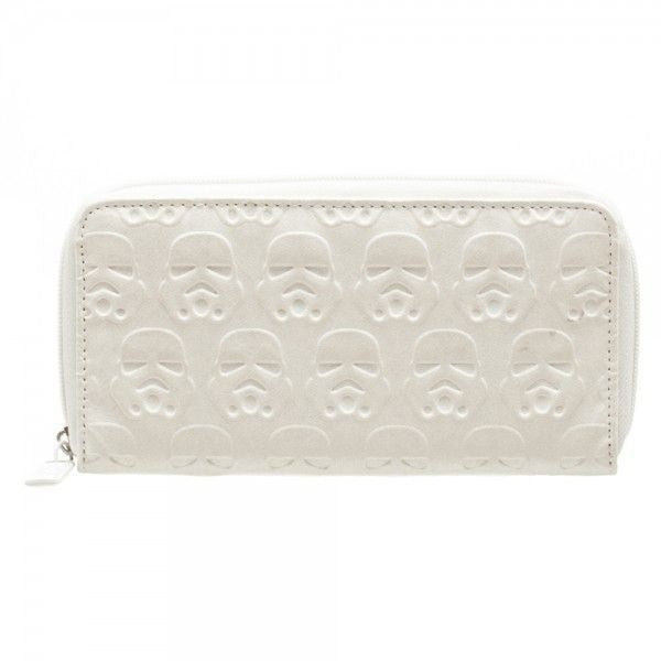 Star Wars White Stormtrooper Embossed Zip Up Wallet Uncanny!