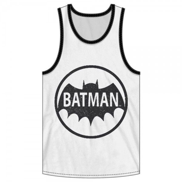 Batman Circle Logo White Tank Uncanny!