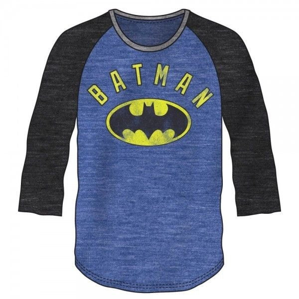 Batman Blue and Black Baseball Shirt