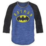 Batman Blue and Black Baseball Shirt Uncanny!