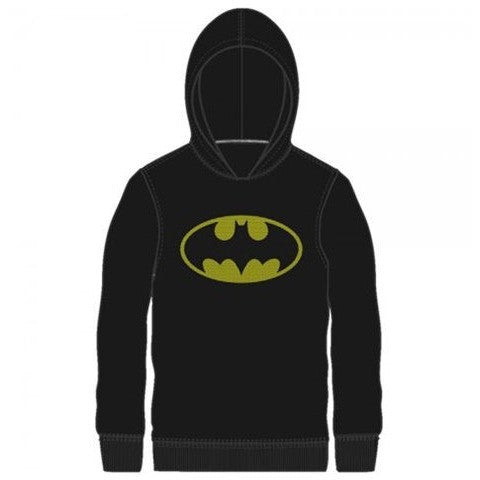 Batman Logo Hooded Long Sleeve Shirt