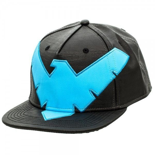 Nightwing Faux Leather Snapback Hat Uncanny!